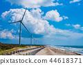 (시즈오카 현) 하마 오카 사구의 풍력 발전 풍차 44618371
