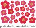背景 梅 花朵 44620547
