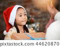 家庭享受聖誕節 44620870