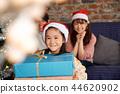 家庭享受聖誕節 44620902