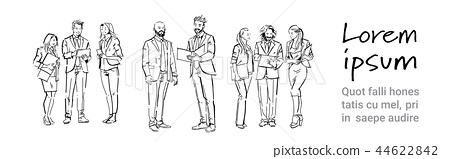 business people communication during meeting, discussion colleagues communicating full length 44622842