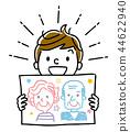 插圖素材:顯示肖像的男孩 44622940
