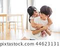 ครอบครัวผู้ปกครองและเด็กครอบครัวเด็กผู้หญิง 44623131
