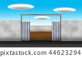 Initial stage illustration of construction work 44623294