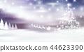 聖誕節雪冬天背景 44623390