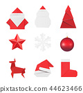 Christmas origami ornaments and decorations 44623466
