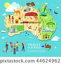 Australia Attractions Vector And Illustration. 44624962