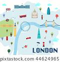 landmark, london, map 44624965