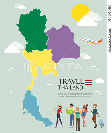 Map Of Thailand Vector And Illustration. - Stock ...