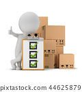 3d small people - checklist and boxes 44625879