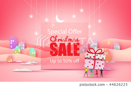Merry Christmas and Happy New Year. Christmas sale 44626225