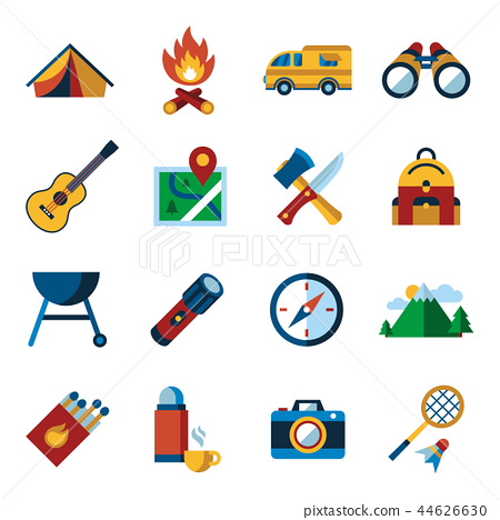 Digital vector summer camping sport 44626630