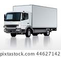 Vector delivery cargo truck template isolated on w 44627142