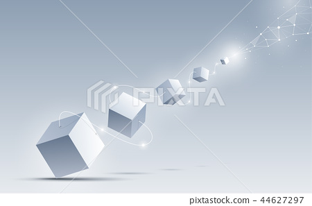 Abstract 3d cubes background vector illustration. 44627297