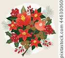 Vector illustration of a floral bouquet in winter 44630060