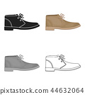 isolated oxford shoe 44632064