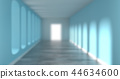 Blurred background of a long corridor 44634600