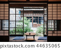 Old Japanese houses interior with sliding doors 44635065