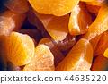 Homemade orange marmalade candy. Citrus fruit jell 44635220