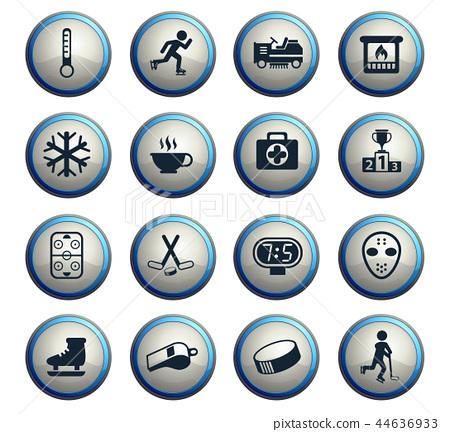 ice rink icon set 44636933