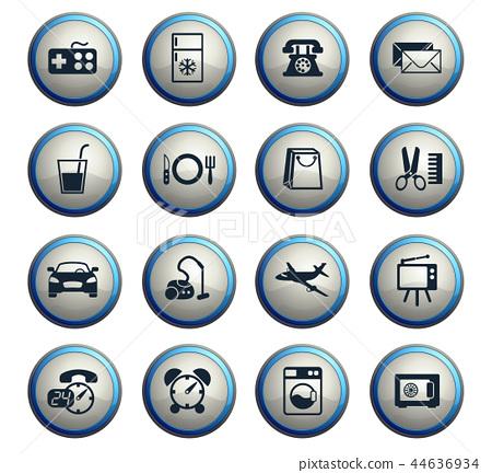 Hotel Room Service Icon Set Stock Illustration 44636934 Pixta