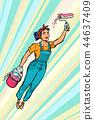woman painter, superhero flies 44637409