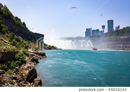 Niagara waterfall in summer view across the border 44638143