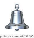 Silver bell 3D render 44638865