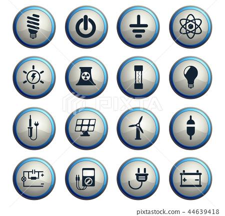 electricity icon set 44639418
