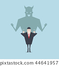 Devil shadow behind a smiling face of businessman. 44641957