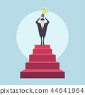 Successful businessman on top of the stairs. 44641964