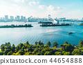 Beautiful architecture building cityscape of tokyo city with rainbow bridge 44654888