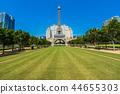 Beautiful eiffel tower landmark of parisian hotel and resort in macau city 44655303