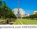 Beautiful eiffel tower landmark of parisian hotel and resort in macau city 44656990