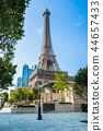 China, Macau - September 10 2018 - Beautiful eiffel tower landmark of parisian hotel and resort in macau city 44657433