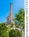 Beautiful eiffel tower landmark of parisian hotel and resort in macau city 44657435
