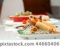 Fried Shrimps wrapped and crispy fried noodles 44660406