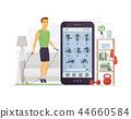 Home fitness - modern vector cartoon character illustration 44660584