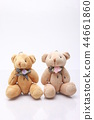 귀여운 곰 인형 2 마리의 테디 베어 인형 44661860