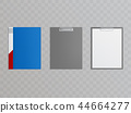 Vector realistic clipboards, folders for holding papers 44664277