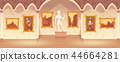Vector cartoon art gallery in medieval palace 44664281