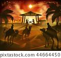 Nativity Christmas Scene 44664450