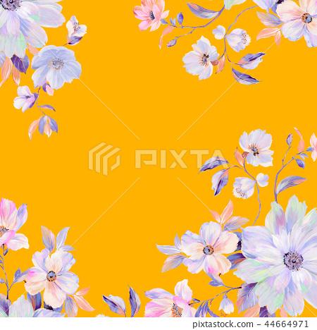 五六朵六朵玫瑰花,牡丹花,有利的菊花 44664971