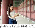 婦女,景福宮宮殿,漢城,紫禁城,旅行 44665673