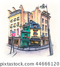 Typical Parisian house, France 44666120