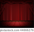 stage, red, curtain 44666276