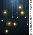 star hanging in starry night 44669640