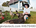 turkey, woman, farming 44670480
