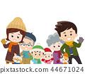 家庭冬天的衣服 44671024