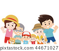 Family summer clothes 44671027